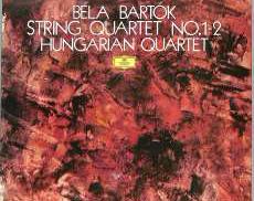 バルトーク 弦楽四重奏曲 1,2番 ハンガリーQ|ポリドール(DGG)