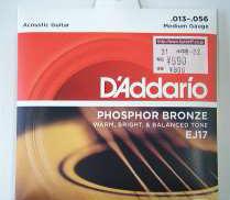 ※新品 アコースティックギター弦 D'ADDARIO