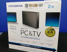 【未使用】2TB外付けHDD|I・O DATA