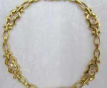 K18ブレスレット石付き|宝石付きブレスレット