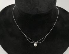 K18WGパール付ネックレス|不明