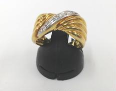 K18 Pt900ダイヤ付リング|宝石付きリング