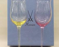 波の戯れ ペア ワイングラス|MEISSEN