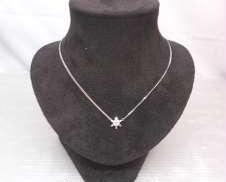 Pt850ネックレス 宝石付きネックレス