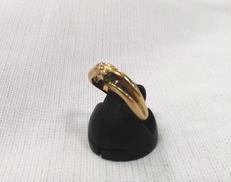 K18リング(グリーン石付き) 宝石付きリング