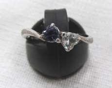 PT850 リング(ハート石付き)|宝石付きリング