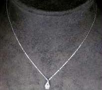 4℃ K10ネックレス 宝石付きネックレス