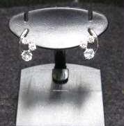 4℃ K10WGピアス 宝石付きピアス