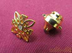K20ピンバッジ|宝石付きカフス