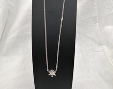PT850ネックレス PTトップ 宝石付きネックレス