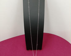 K18 WGネックレス 花モチーフ石付き|宝石付きネックレス