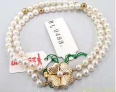 k14白石付きブレスレット|宝石付きブレスレット