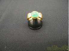 K18 リング(グリーン石付き)|宝石付きリング