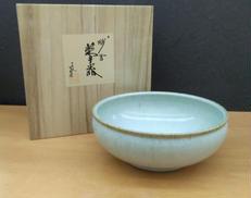 【未使用】 残雪 菓子鉢|青龍窯