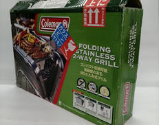 FOLDING STAINLESS 2-WAY GRILL|COLEMAN