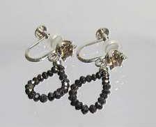ブラック・ブラウンダイヤイヤリング|宝石付きイヤリング