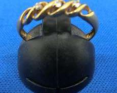 K18リング|宝石付きリング