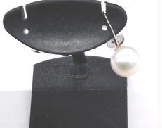 PT850イヤリング白石付き|宝石付きイヤリング
