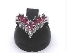 PT900ブルーダイヤリング 宝石付きリング