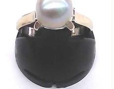 K14WGリング石付き 宝石付きリング