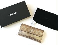 メタリックレザー財布|CHANEL