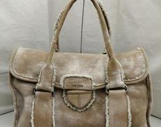 ムートンハンドバッグ|PRADA