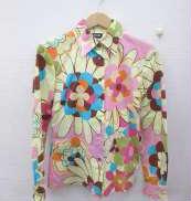 フラワーパターンコットンシャツ|D&G