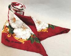 花柄×ストライプスカーフ JUNKO SHIMADA