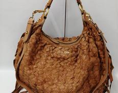 編み込みバッグ|MIUMIU