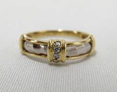 K18PT900石付きリング|宝石付きリング