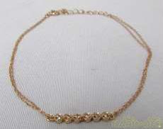 K10PGダイヤモンドブレスレット|宝石付きブレスレット