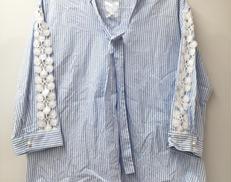 袖刺繍ストライプシャツ|ROSE TIARA