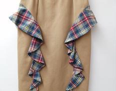 チェックフリル付きスカート PAMEO POSE