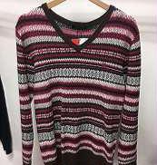 Vネック総柄セーター|BURBERRY BLACK LABEL