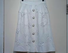 リネン刺繍フラワースカート DOLCE&GABBANA