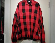 ジッパーチェックシャツ|FACETASM