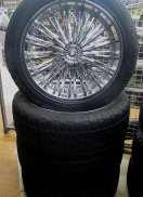 オフセット+12 22インチ タイヤセット|MKW