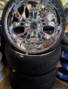 オフセット+20 22インチ タイヤセット|ALEX DAVIS