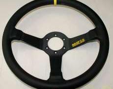 sparco R345 ディープステアリング イエローライン|SPARCO