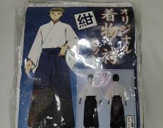 【未使用 メンズL】着物・袴セット 白×紺|TRANTRIP