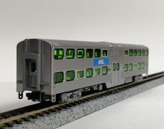 Nゲージ ギャラリーバイレベル客車 シカゴメトラ 3両セット|KATO