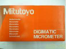 クーラントプルーフマイクロメーター MITSUTOYO