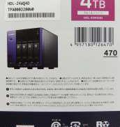 4ドライブ法人向けNAS(4TB)|I・Oデータ