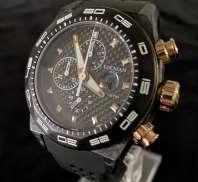 【メンズクオーツアナログ腕時計】CARBON CHRONO|LOCMAN