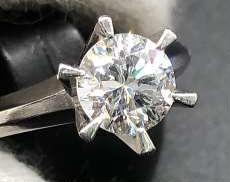 Pt900石付きリング|宝石付きリング