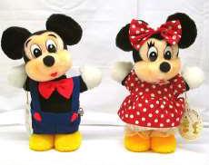 ミッキーマウス ミニーマウス首振りオルゴール人形セット|三協商事