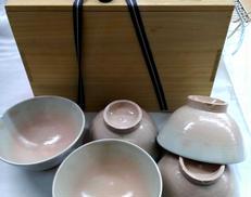 御本 茶碗5客|八幡窯