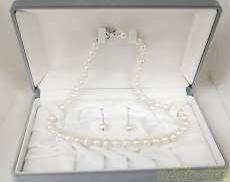 パールネックレス&イヤリング|宝石付きネックレス