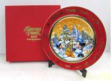 ディズニー クリスマスプレート 2005 ミッキー・ミニー DISNEY