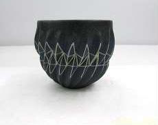 雲舟窯 縹繧幾何文 酒杯 内田和秀作|雲舟窯
